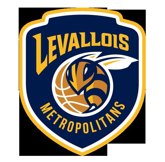 Logo des Levallois Metropolitans en Jeep Elite