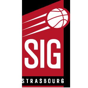 Logo de la SIG Strasbourg en Jeep Elite