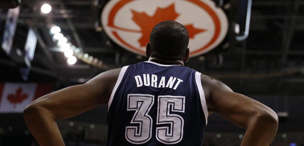 Kevin Durant voulait jouer aux Toronto Raptors