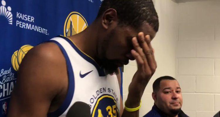 L'absence de mouvement de balle dans le jeu des Warriors commence sérieusement à irriter Kevin Durant