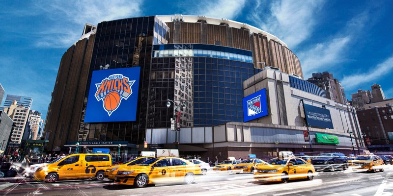Le Madison Square Garden, salle des New York Knicks en NBA