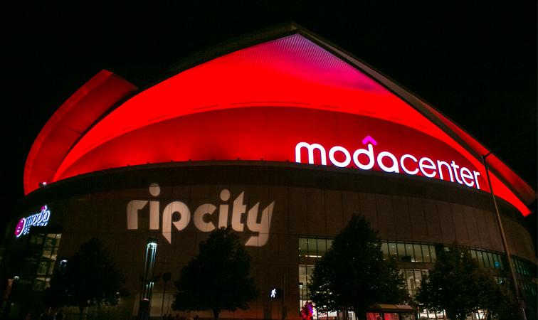 Le Moda Center, salles des Portland Trail Blazers en NBA