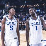 NBA – Zion Williamson et R.J Barrett ressortent une vieille tradition de Duke