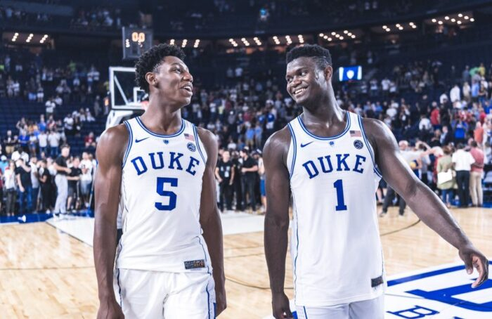 RJ Barrett et Zion Williamson de Duke