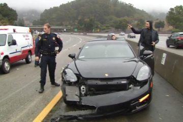 Le meneur des Warriors Stephen Curry a été impliqué dans un accident de la route à Oakland en Californie
