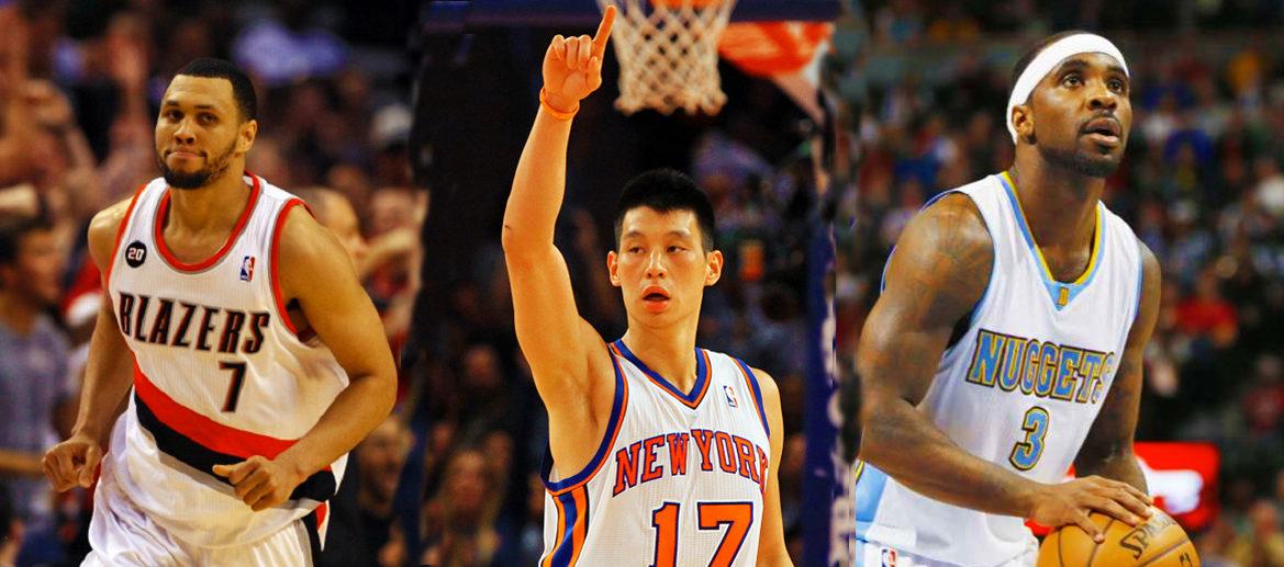 Brandon Roy, Jeremy Lin et Ty Lawson