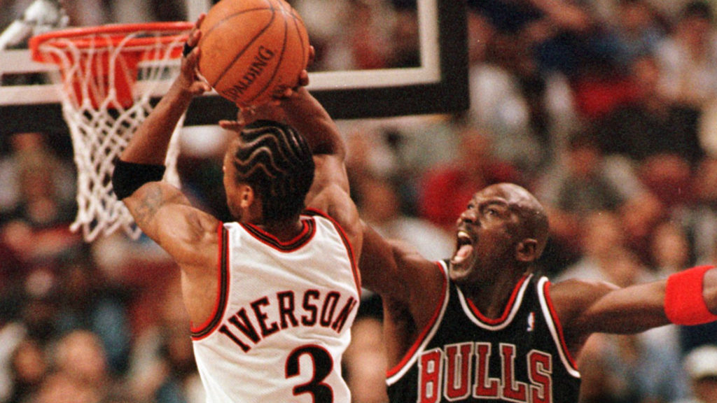 Allen Iverson et Michael Jordan