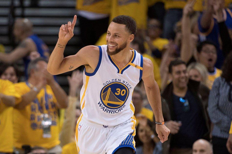 Stephen Curry sous le maillot des Warriors