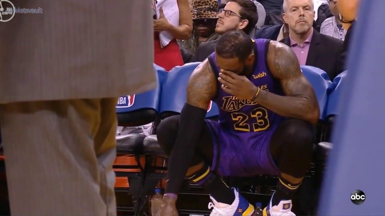 LeBron james blessure Warriors