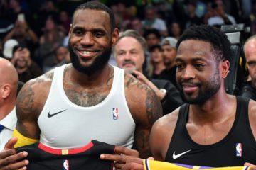 Les deux amis Dwyane Wade et LeBron James se séparent sur la plus belle des notes.