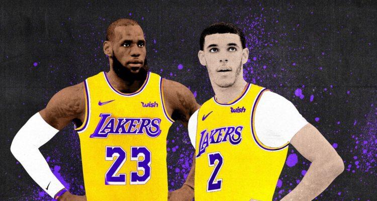 LeBron James et Lonzo Ball historiques aux Lakers
