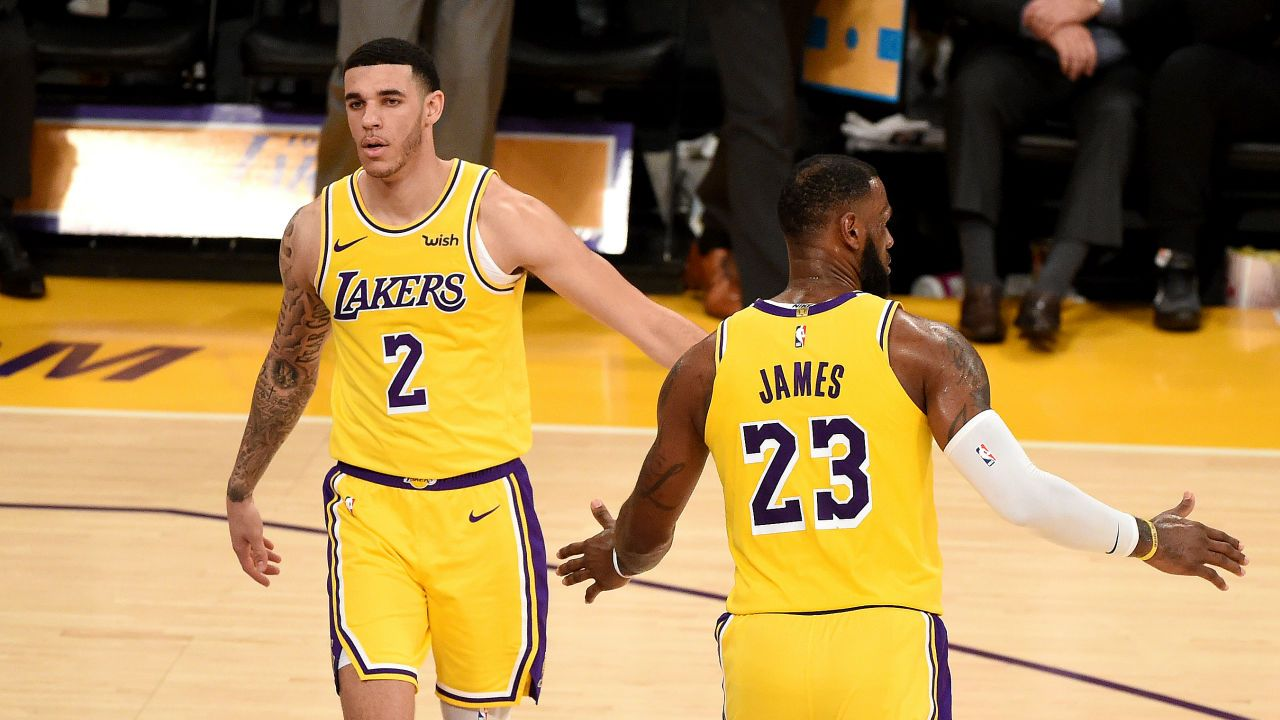 LeBron James et Lonzo Ball
