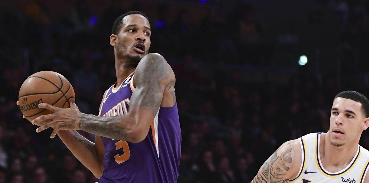 Trevor Ariza, sous le maillot des Phoenix Suns, face aux Los Angeles Lakers