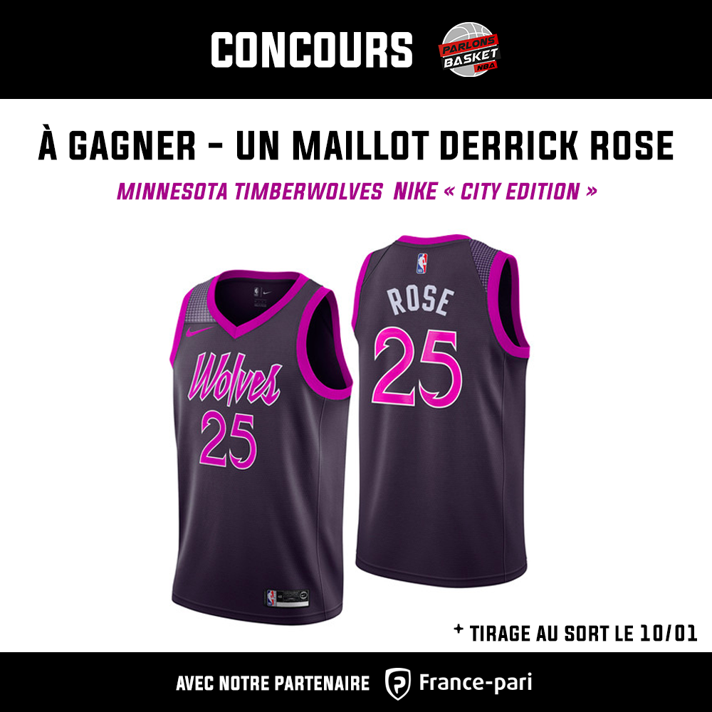 best service 05eac fd969 NBA - Un maillot de Derrick Rose à gagner avant le 10 janvier !