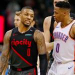 NBA – Quand Westbrook provoque Damian Lillard sur la ligne des lancers