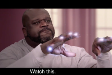 Shaquille O'Neal Glass parodie