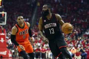 James Harden insaisissable pour Russell Westbrook. Houston compte sur son leader.