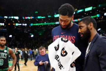 Anthony Davis Kyrie Irving Celtics