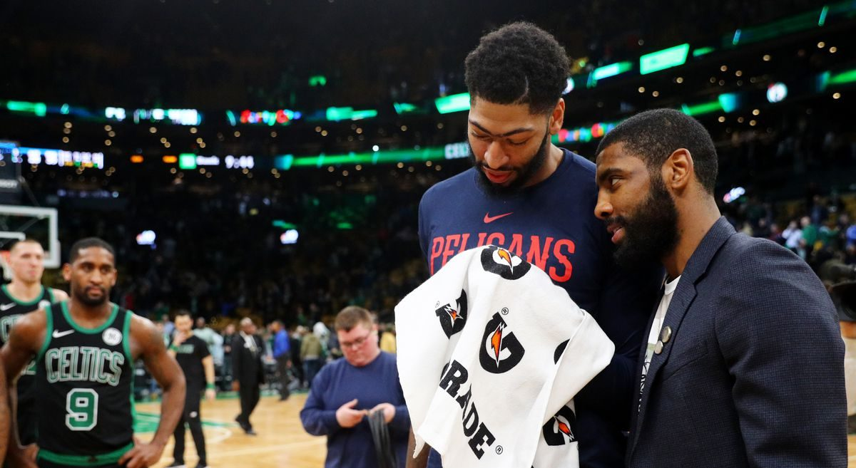 Anthony Davis Kyrie Irving Celtics