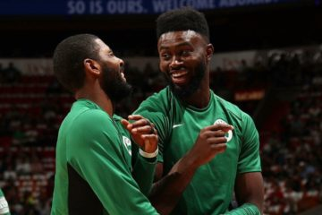 Jaylen Brown vante Kyrie Irving