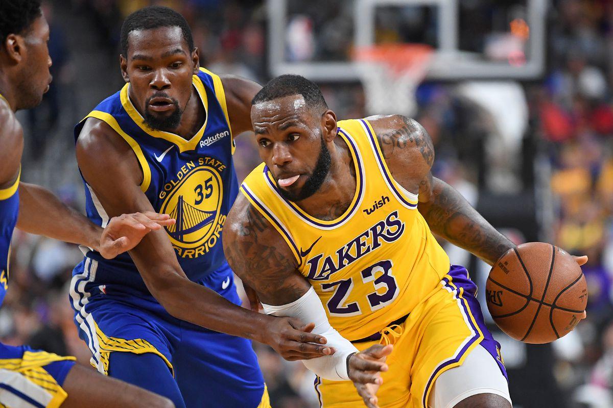 LeBron James au duel avec Kevin Durant