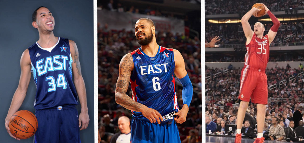 Devin Harris, Tyson Chandler et Chris Kaman