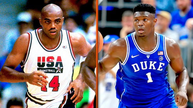 Charles Barkley et Zion Williamson