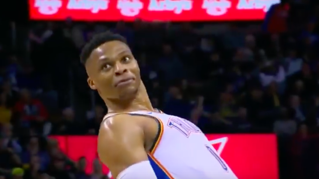 Russell Westbrook fail dunk