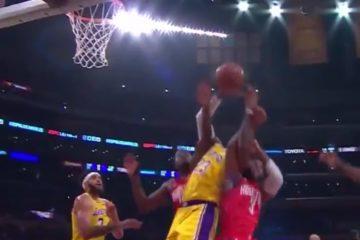 Bron James qui aurait pu blesser le joueur des LakersChris Paul a réalisé un geste très dangereux sur Le
