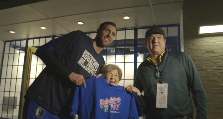 Drik Nowitzki a fait une jolie surprise à une fan de 92 ans