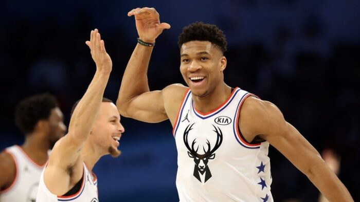 Giannis Antetokounmpo chambre Steph Curry après le All-Star Game