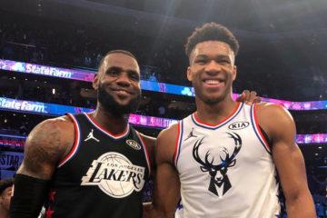 LeBron James et Giannis Antetokounmpo