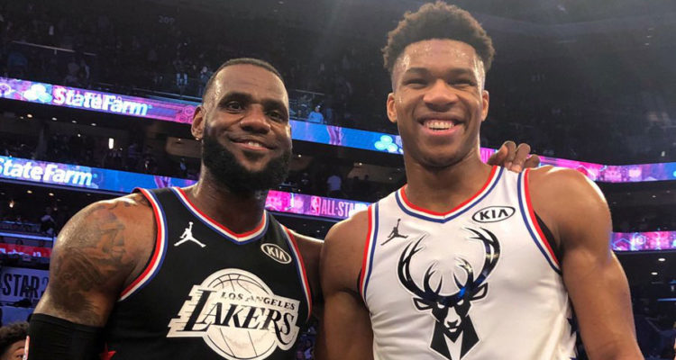 LeBron James et Giannis Antetokounmpo