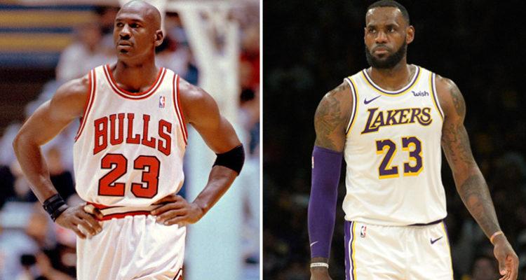 LeBron James et Michael Jordan
