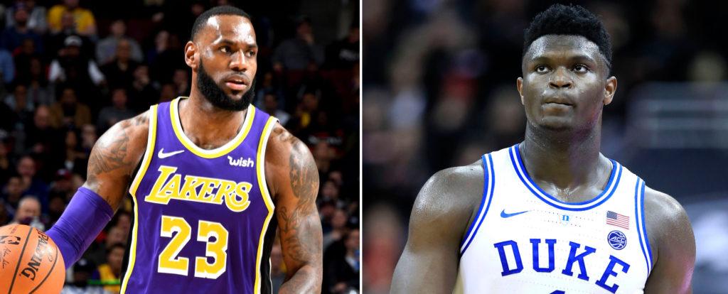 LeBron James des Lakers et son héritier Zion Williamson ?
