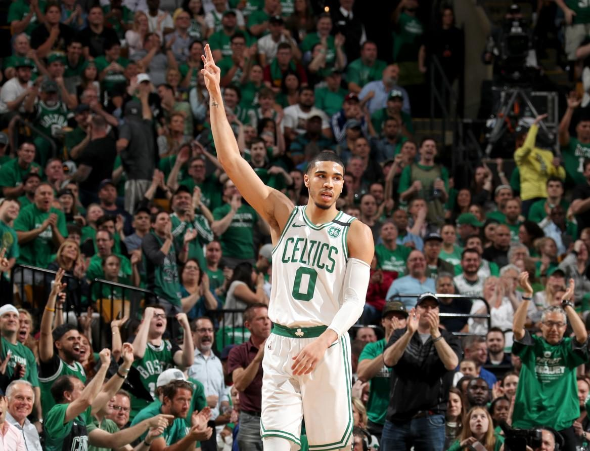 Jayson Tatum sous le maillot des Celtics