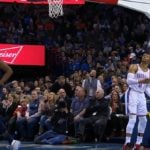 NBA – La drôle de réaction de Russell Westbrook à son dunk raté