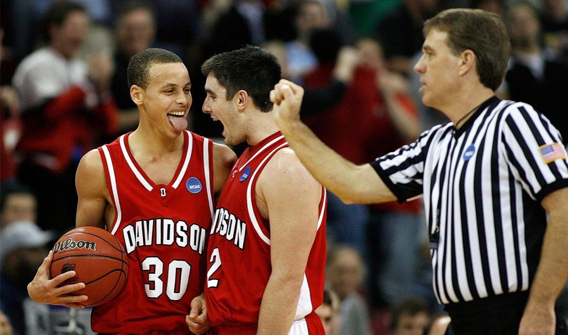 Stephen Curry sous le maillot de Davidson