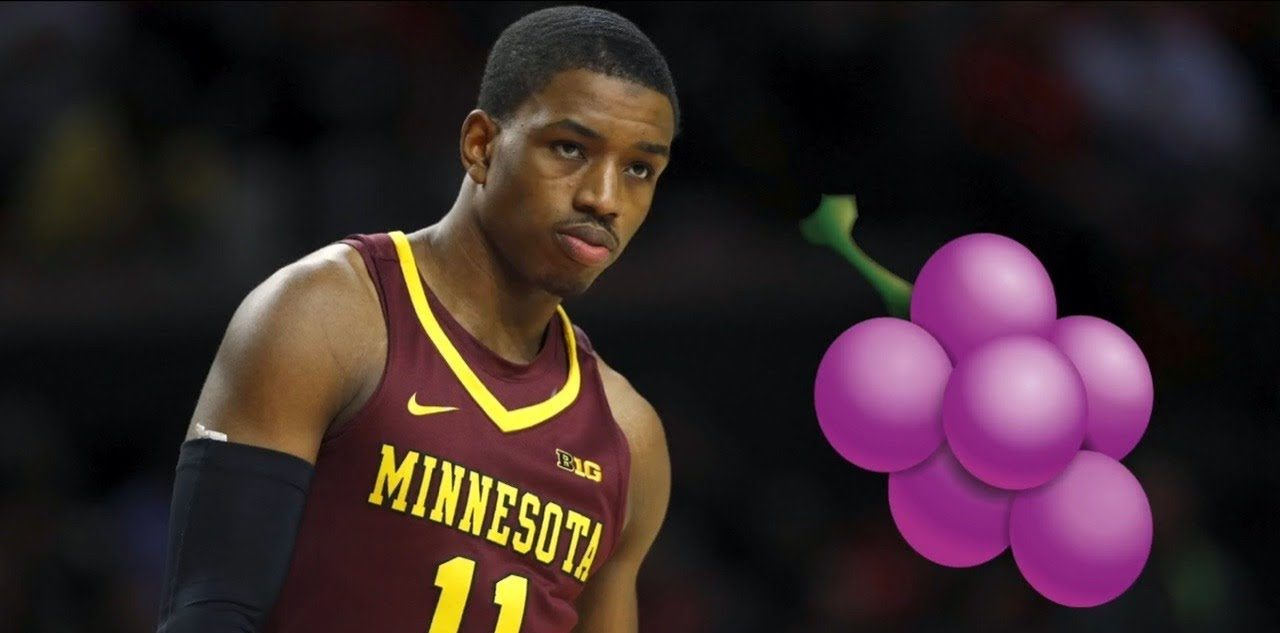 Isaiah Washington, membre de la Jelly Fam, sous le maillot des Minnesota Golden Gophers