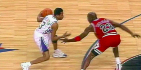 Allen Iverson crossover michael Jordan 1992