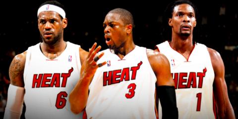 LeBron James Dwyane Wade Chris Bosh Miami Heat Big 3
