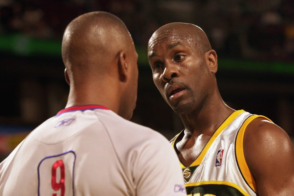 Gary Payton trash-talking Lamar Odom