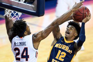 Ja Morant face à Auburn en NCAA