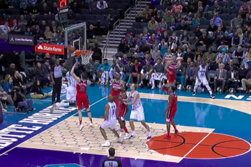 Marvin Williams Hornets dunk