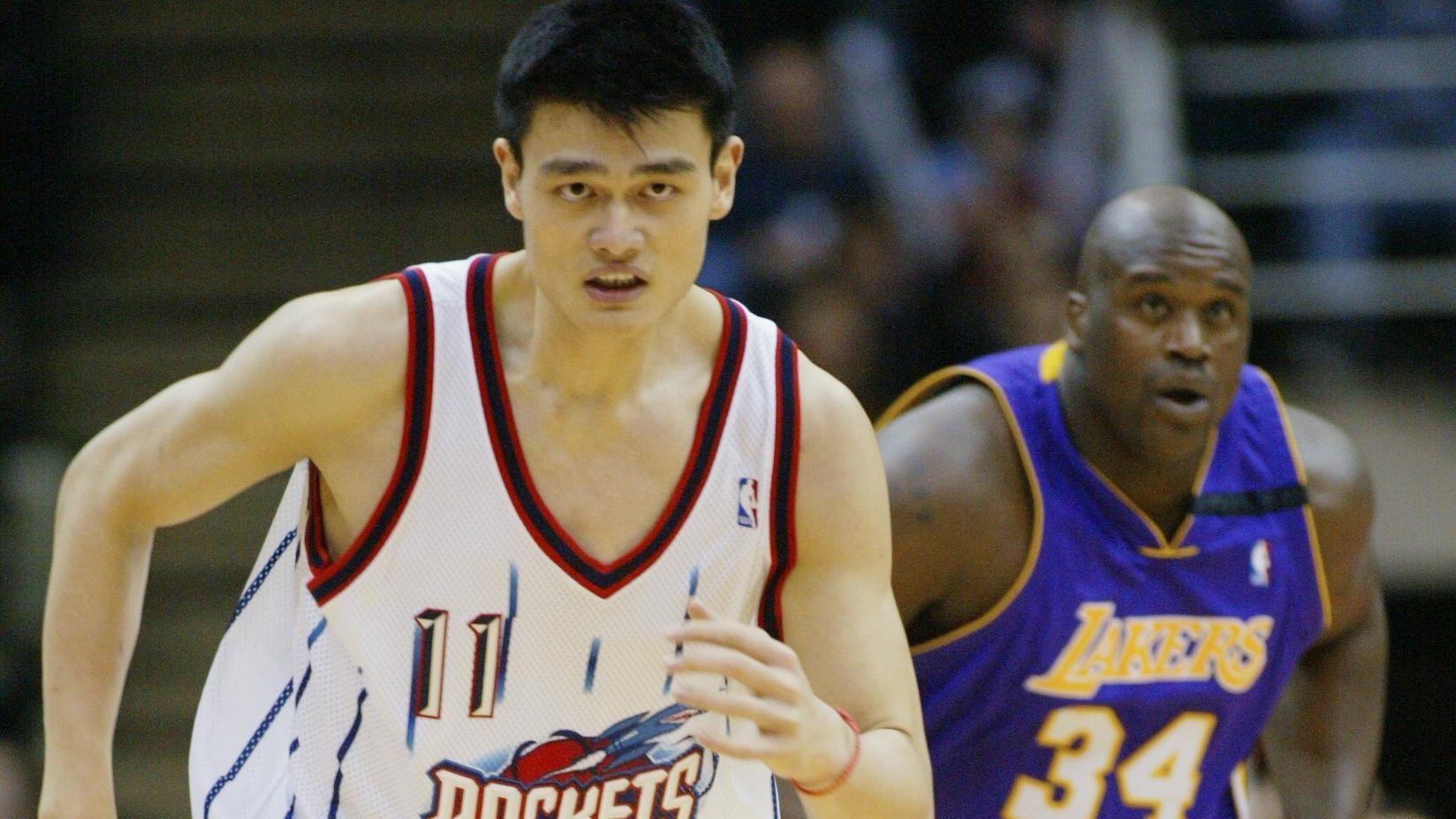 Première rencontre explosive entre Shaq et Yao Ming