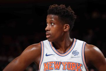 Frank Ntilikina sous le maillot des Knicks