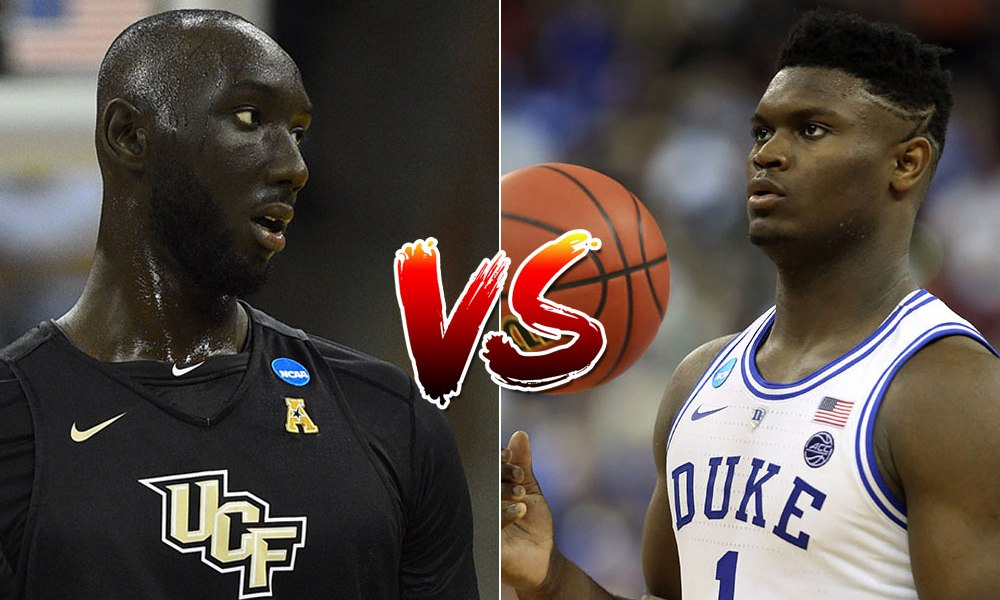 Tacko Fall et Zion Williamson pendant la March Madness