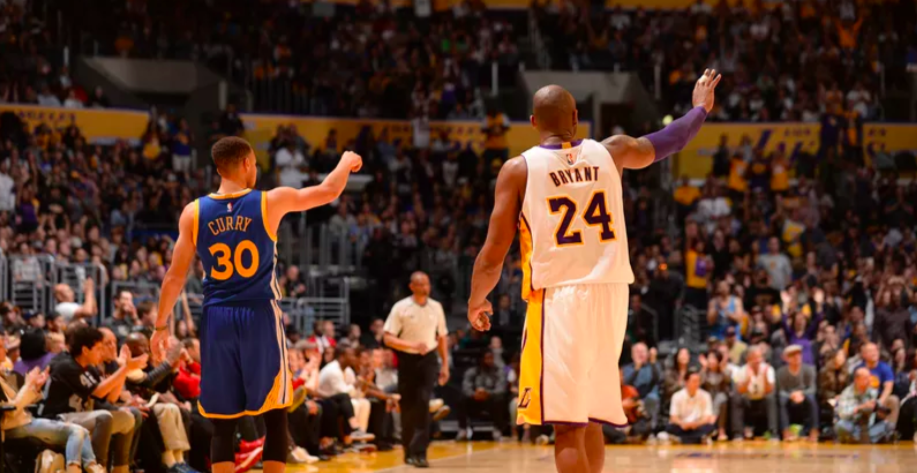 Warriors de Stephen CUrry contre Lakers de Kobe Bryant