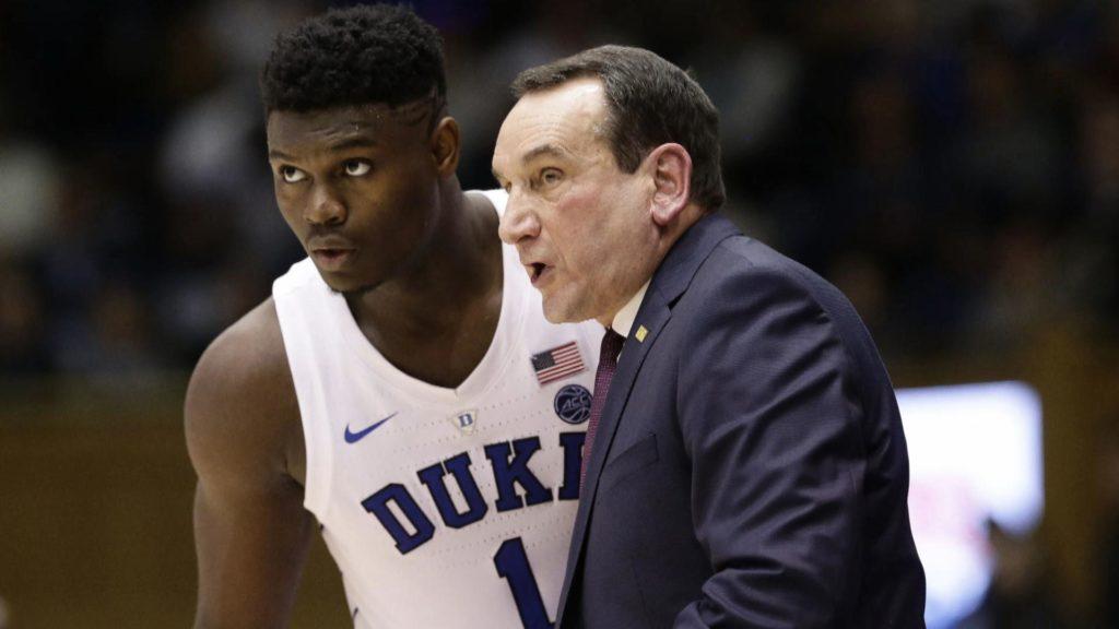 Zion Williamson et Coach K à Duke