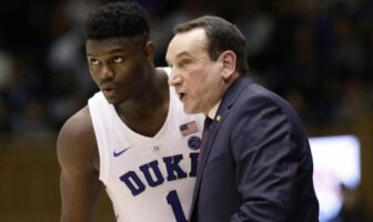 Zion Williamson et Coach K à Duke